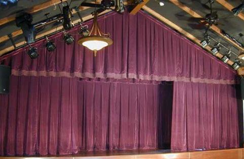 confección e instalación de grandes telones para teatros