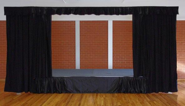 telones economicos para teatros en colegios